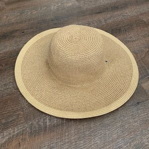 Large Floppy Woven Hat